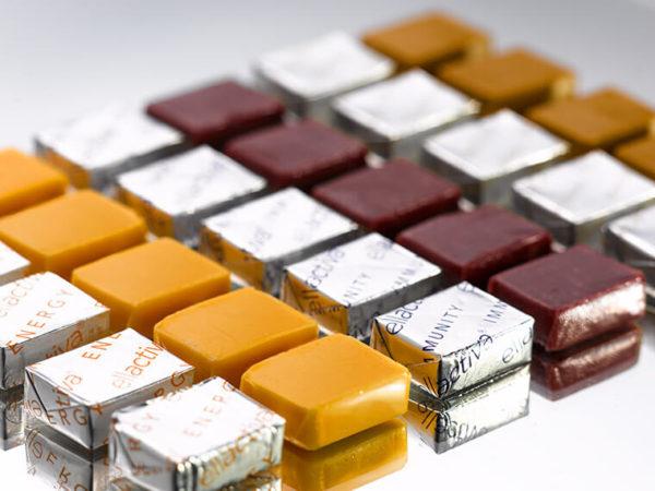 Rows of Orange Collagen& chews