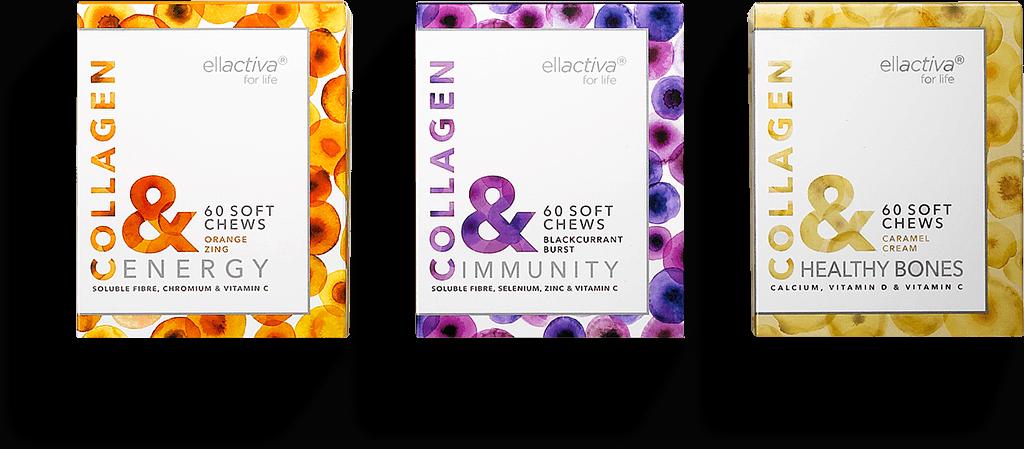 3 Collagen& packs, Energy, Immunity and Healthy Bones