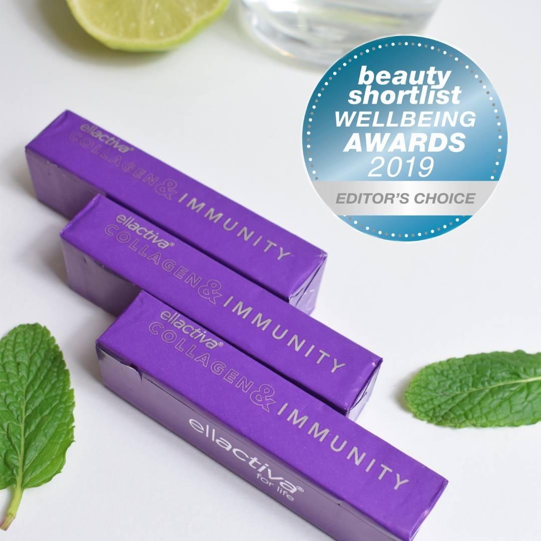 Ellactiva, Collagen& Immunity WINS Global Beauty Shortlist Wellbeing Award!
