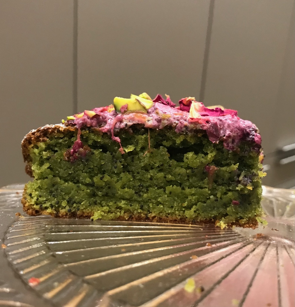 Read Isabella's Prebiotic Matcha Chia Seeds and Almond Flour Gluten Free Cake