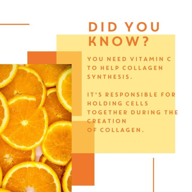 Did you know that as well as collagen, each Collagen& chew also has a healthy dose of vitamin C? 🧡⁠ ⁠ Vitamin C helps your body synthesise collagen, leading to healthy nails, hair and skin, As vitamin C is water soluble, the body needs daily refills of this vitamin and if your body lacks collagen, a quality vitamin C supplement should be a high priority! Which is exactly why it's such an important element of Collagen& chews. ⁠ ⁠