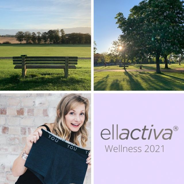 """Ellactiva® Wellness 2021 Campaign – Sarah's Morning Walk We have asked our customers to share a wellness hack that has massive impact on their lives and we will be featuring a selected participant every month. Sarah Jordan, entrepreneur founder of ethical underwear brand Y.O.U has kindly shared her top hacks to support her mental and physical health.  """"Over the years I've learnt that the two things I really need to support my mental and physical health are sleep and exercise. I prioritise getting enough sleep – for me that's at least 8 hours a night – and it makes such a difference to how I feel. I now know how important it is for everything from your productivity, resilience and immune system, to creativity, concentration, ageing and fertility – it can literally save your life! Having said that, when I'm not sleeping I do like – and need – to be active. Since lockdown I've swapped my driving commute for a walk around the park near me and I've loved it! I love being outside, in nature, away from the screen and it's been amazing to see the park change through the year. I know that a (brisk) walk in the morning helps increase your melatonin and serotonin levels too, with the light helping to re-set your body clock (which helps you sleep better!) and the 'feel-good' hormones having a number of wider health benefits too""""  Click the link in our bio to read more about the Ellactiva® wellness campaign, get featured and win a gift from the Ellactiva range from us👆🏼"""