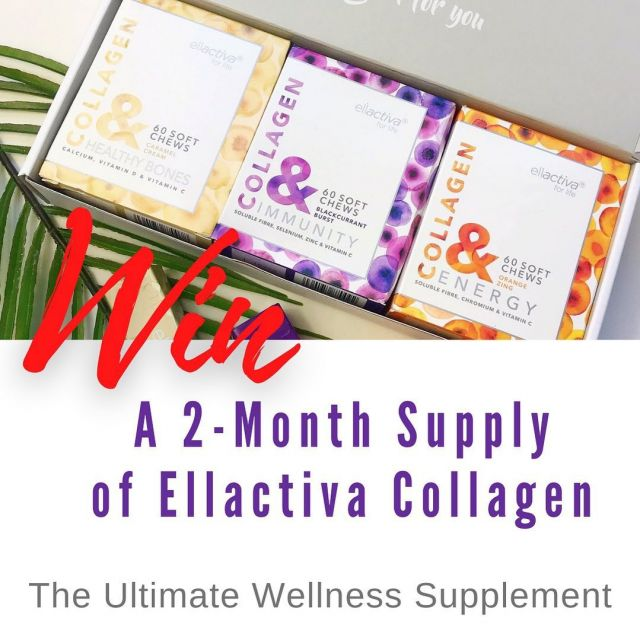 GIVEAWAY ✨ We have  teamed up with Carol Wright@carolwright1to give one lucky winner the chance to win a two month supply of their multi-award-winning beauty & wellness soft chewsClinically proven to boost your skin, hair & nails, Ellactiva's soft chews also target immunity, energy and healthy bones...plus they taste delicious! The contest runs for a week and ends on  26/05To enter simply…💫 Like this post💫 Tag 2 friends in the comments below💫 Follow both@ellactiva&@carolwright1 *For a bonus entry, repost on your storiesPrize includes…✨ 60 Soft Chew Collagen& Energy✨ 60 Soft Chew Collagen& Immunity✨ 60 Soft Chew Collagen& Healthy Bones