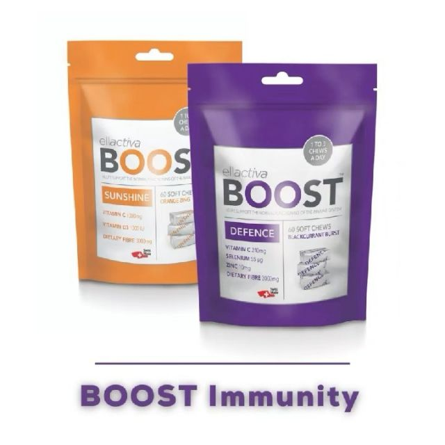 ☀️💜 The sun is shining and we are  going back to our normal routines.  It's more important than ever to boost our natural defenses ☀️💜   Ellactiva BOOST™ Immunity!☀️💜 MAXIMUM SUPPORT FOR A HEALTHY IMMUNE SYSTEM ☀️💜The only supplement in the world combining vitamins and minerals with prebiotic fibre in a delicious soft chew! A totally delicious way to proactively maximise your immune health and nourish your gut-friendly microbiome to improve nutrient absorption and promote healthy digestion.PLUS No sugar, no preservatives, gluten & dairy-free and suitable for vegetarians! NOW AVAILABLE AT LLOYDS PHARMAClick the link in our bio to shop 👆🏼