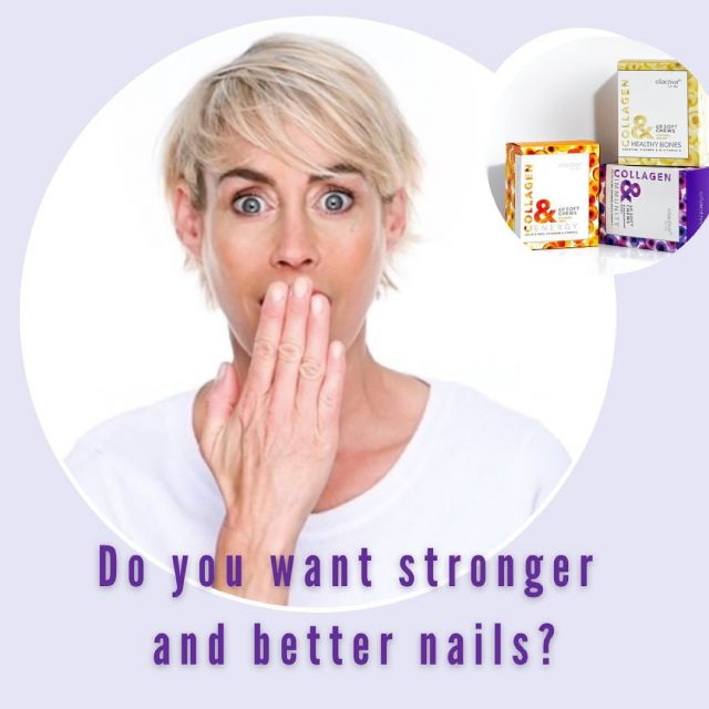 CLINICALLY PROVEN HEALTHIER STRONGER NAILS  The Bioactive Collagen Peptides® used in Ellactiva® Collagen& are scientifically optimised for maximum stimulation of collagen biosynthesis and have been clinically proven to deliver increased nail growth rate and reduce the frequency of broken nails*.  • A study with 25 healthy women showed that the specific Bioactive Collagen Peptides® used in Ellactiva® Collagen& led to a pronounced global clinical improvement in brittle nails, a significant increase in nail growth rate, and a decrease in the frequency of cracked or chipped nails.  The majority of participants (80%) agreed that the use of Bioactive Collagen Peptides® improved their nails' appearance,  and were completely satisfied with the performance of the treatment.  You can read more about our Ellactiva® Collagen&  and its benefits on skin, hair and nails following the link in our bio 👆🏼  * Hexsel D, Zague V, Schunck M, Siega C, Camozzato FO, Oesser S. Oral supplementation with specific bioactive collagen peptides improves nail growth and reduces symptoms of brittle nails. J Cosmet Dermatol. 2017;16:520–526.
